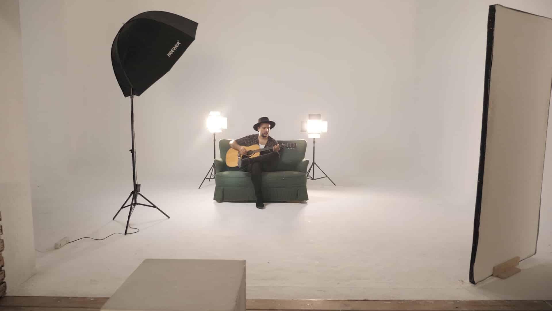Grabación videoclip en estudio José Villaescusa Producciones Audiovisuales